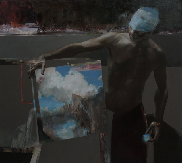, 'Man with clouds,' 2019, Léna & Roselli Gallery