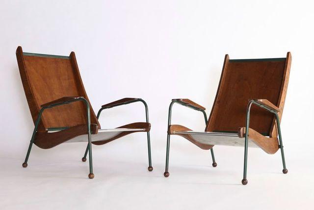 , 'Pair of Visiteur armchairs,' ca. 1950, Tina Kim Gallery
