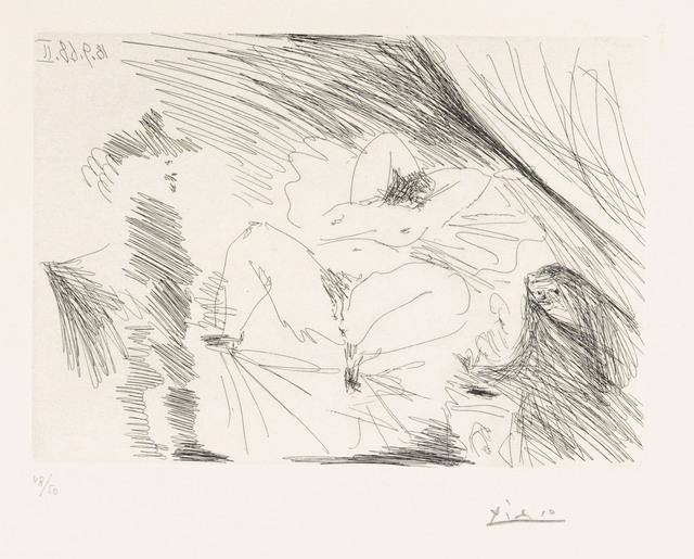 Pablo Picasso, 'Jeune femme au lit, Célestine et gentilhomme, from: Series 347', 1968, Christie's