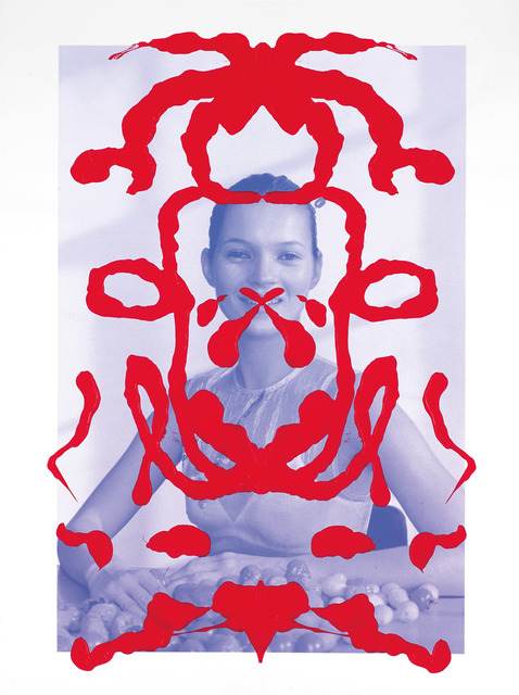 Asher Penn, 'Kate Moss Rorschach Portrait - Red on Blue, 2013', 2013, Martin Lawrence Galleries