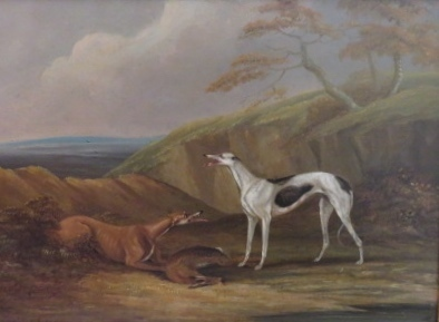 , 'Greyhound dogs with kill in pastoral landscape,' , Arctic Experience McNaught Gallery