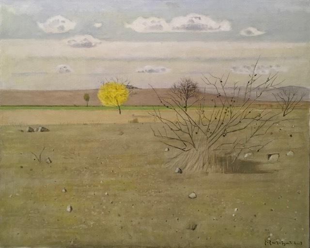 Hagop Hagopian, 'Yellow Tree', 2003, Painting, Oil on canvas, Tufenkian Fine Arts