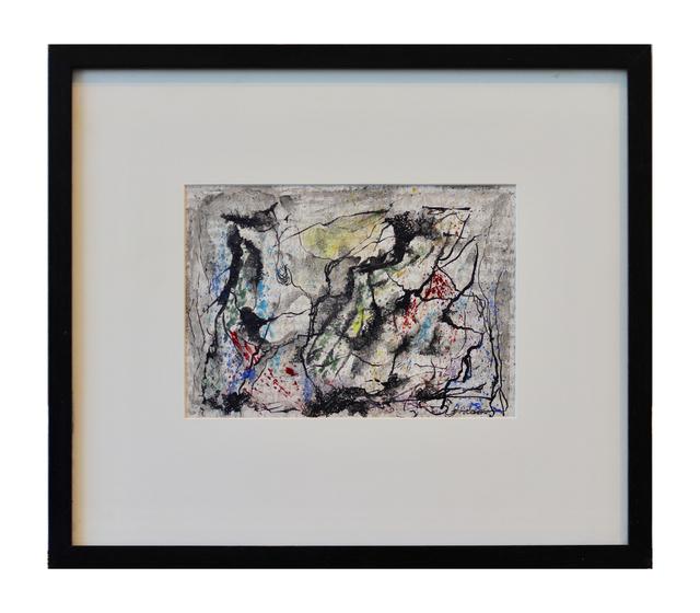 Joseph J. Meert, 'Untitled', ca. 1950, Painting, Watercolor, ink, and graphite on wallpaper, Aaron Galleries