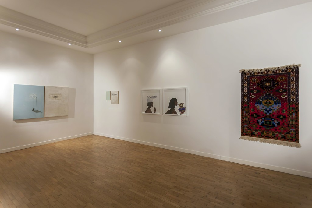"Installation view ""Five Years"" —  Faig Ahmed, Loza Maléombho, Alessandro Procaccioli"