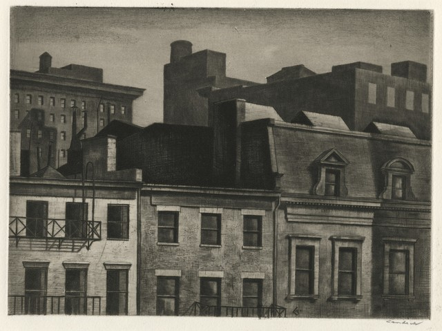 , 'Housetops, 14th Street,' 1937, Childs Gallery