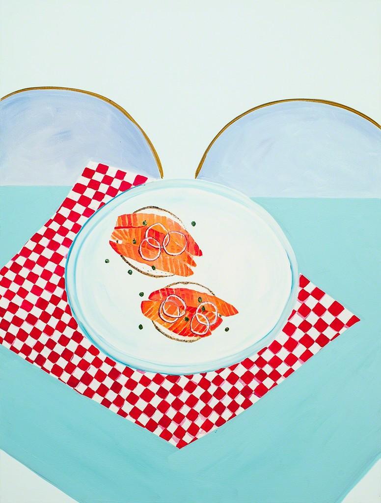 Bagels, gravlax, câpres et oignons rouges
