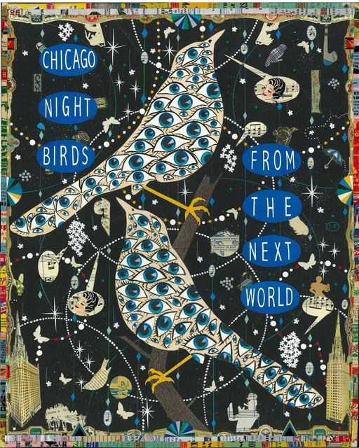 , 'Chicago Night Birds (A Prayer for Otis Clay),' 2016, DePaul Art Museum