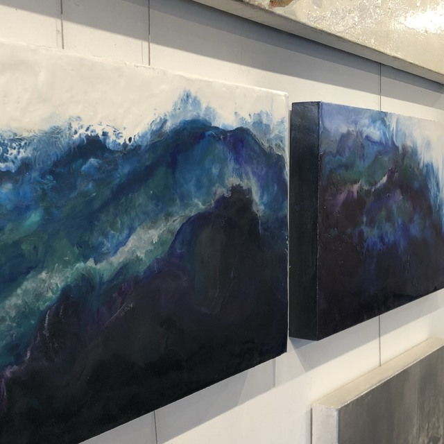 , 'West Coast Geode Encaustic Diptych,' 2018, Art Gallery Pure