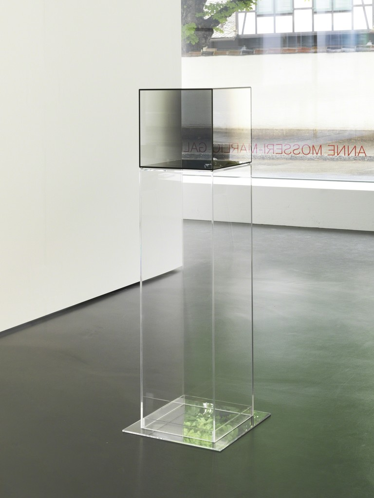 Installation View 3: Larry Bell, Cube Nr. 1, 2008