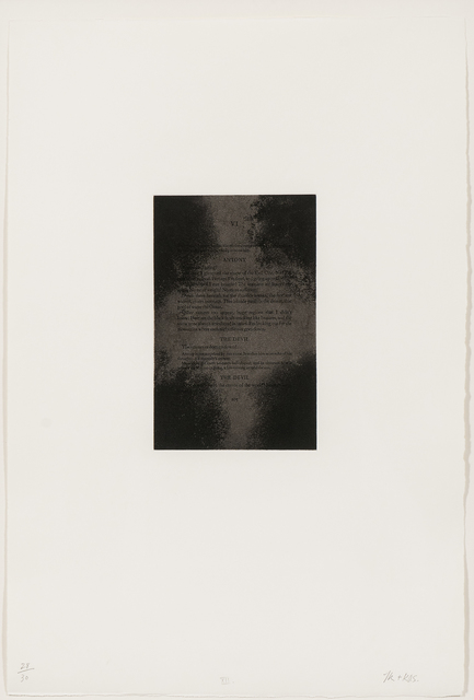 Tim Rollins and K.O.S., 'Plate XII from the series The Temptation of St. Anthony', 1990, Skinner