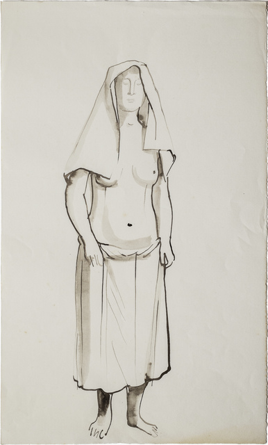 , 'Woman half cloaked,' 1949, Galerie Thomas