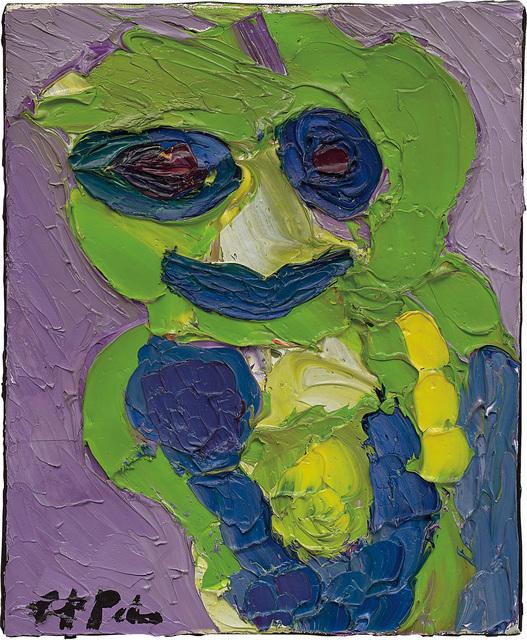 Karel Appel, 'Juffertje in het groen', 1985, Painting, Oil on canvas, Phillips