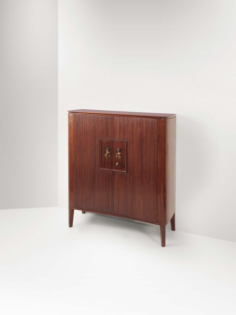 Lucio Fontana, 'A bar cabinet with a wooden structure and a glass top', 1950 ca, Cambi