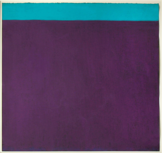 Harriet Zabusky-Zand, 'Purple and Turquoise', ca. 2005, Drawing, Collage or other Work on Paper, Pastel, Elizabeth Clement Fine Art