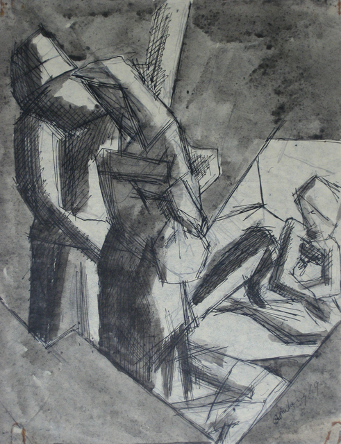 , 'Stairway,' 1919, Boundary Gallery