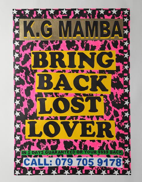 , 'Bring Back Lost Lover,' 2012, Galerie Ernst Hilger