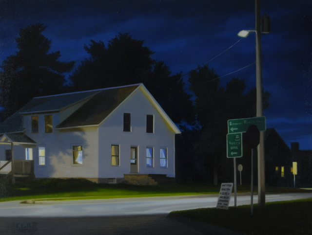, 'Night Intersection,' 2017, West Branch Gallery