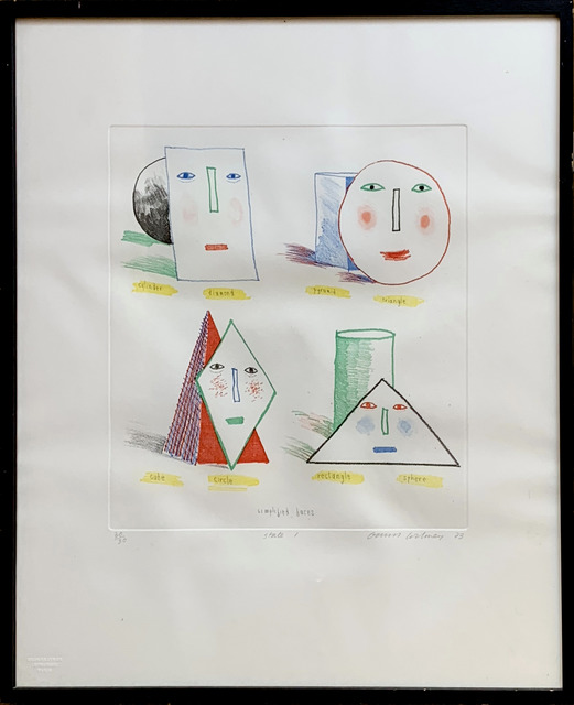 David Hockney, 'Simplified Faces State I', 1973, Fairhead Fine Art Limited