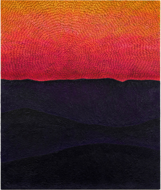 , 'Force of Instinct (Painted Universe Mandala SF #1G, Sunset Sky, Black-Purple Mountains, Natural Ground),' 2017-2018, Gagosian