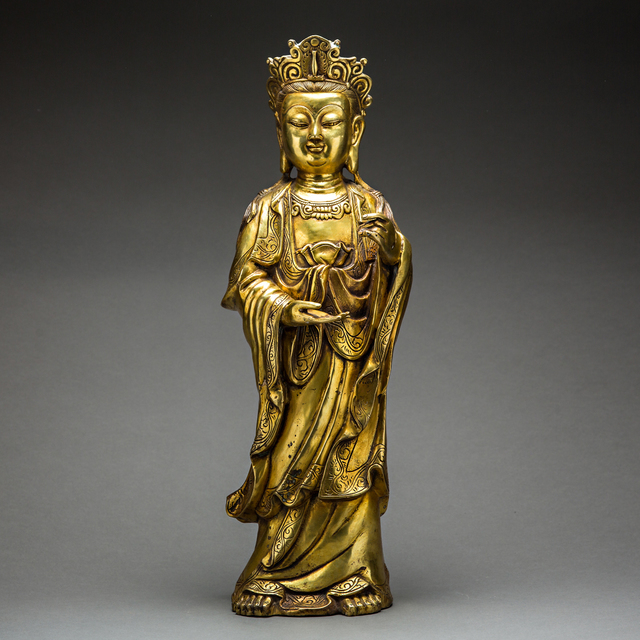 Unknown Chinese, 'Qing Dynasty Guilded Guan Yin', 1644-1912, Barakat Gallery