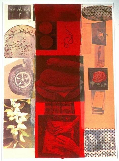 Robert Rauschenberg, 'Flirt', 1979, Print, Original screenprint in colors with collage on wove paper, michael lisi / contemporary art