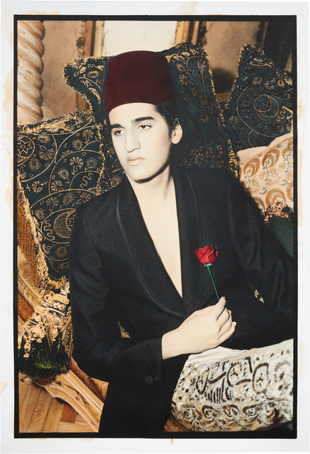 Youssef Nabil, 'Lonely Pasha, Cairo', 2002, Print, Hand colored gelatin silver print, Phillips