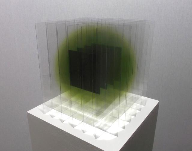 , 'Black Squares in Green,' 2014, Galerie La Ligne