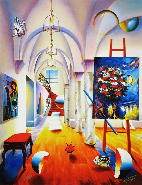 Ferjo, 'IMPERIAL COLUMNS', 2005, Print, GICLEE ON CANVAS, Gallery Art