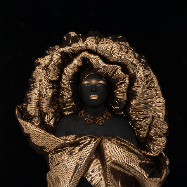 Kimiko Yoshida, 'Painting, Wise King Melchior by Mantegna, Self Portrait', 2010, Holden Luntz Gallery