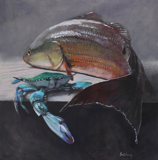 , 'Golden Redfish and Green Blue Crab,' 2019, LeMieux Galleries