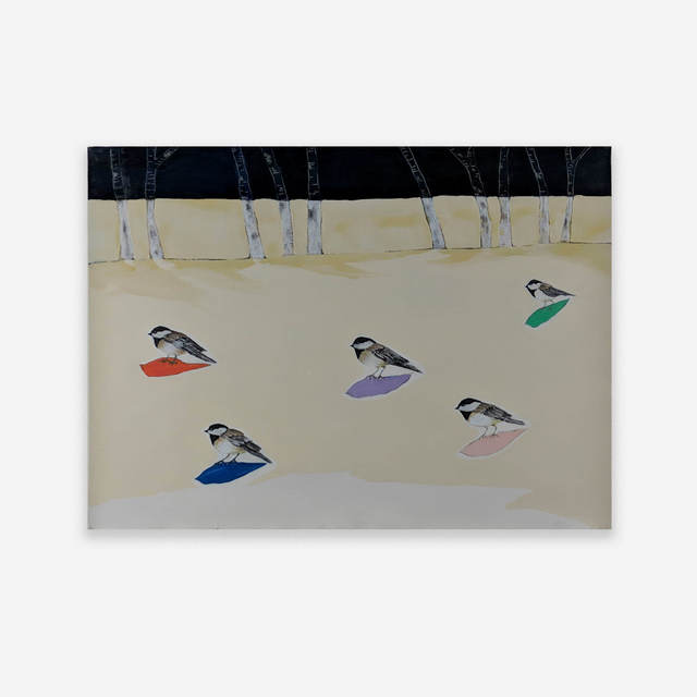 Anne Neely, 'Chickadees', Capsule Gallery Auction