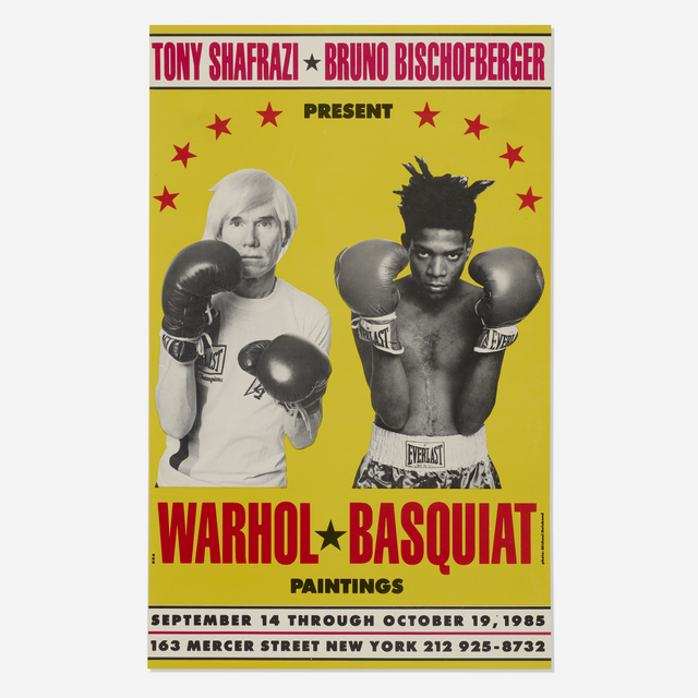 Andy Warhol, 'Warhol/Basquiat Paintings exhibition poster', 1985, Wright