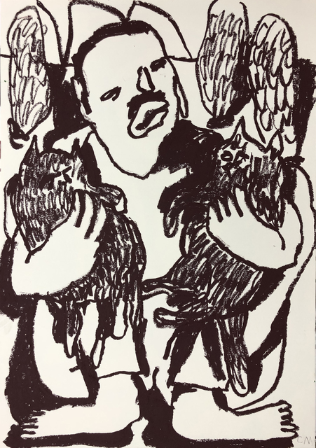 Conny Maier, 'FREDDY MERCURY MIT KATZEN', 2019, Ruttkowski;68