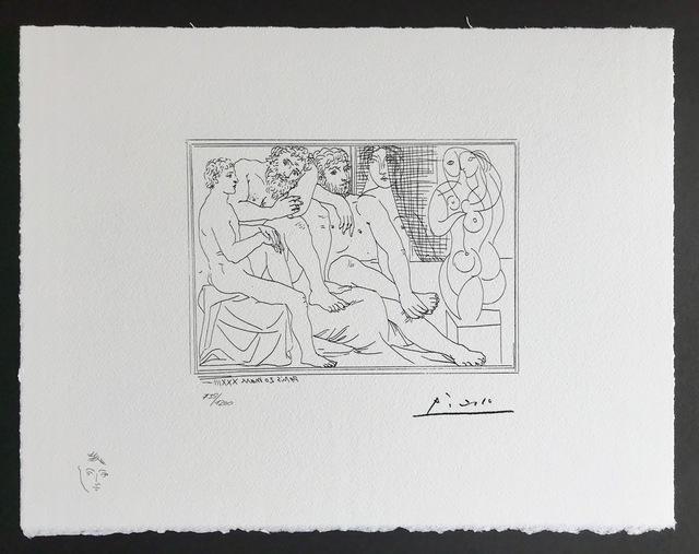 Pablo Picasso, 'Sculpteurs modèles et sculpture (Suite Vollard Planche XLI)', 1973, ByNewArt