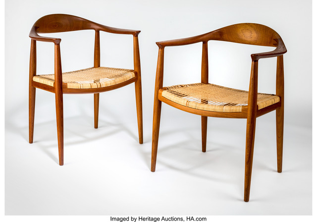 Hans J. Wegner, 'Pair of The Chairs (JH501)', circa 1950, Heritage Auctions