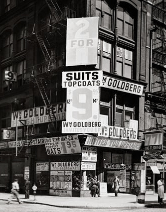 """, 'William Goldberg (from the series """"Changing New York""""),' 1936, Bookstein Projects"""
