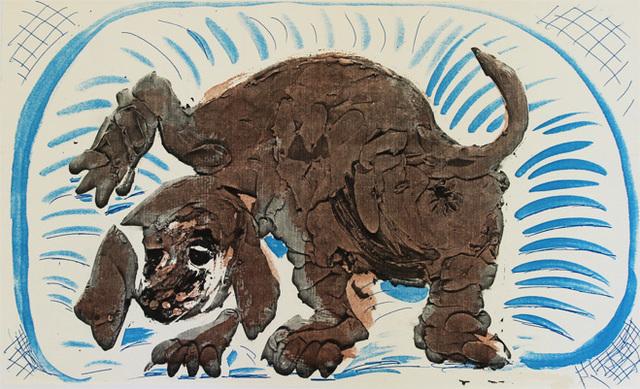 David Hockney, 'Stanley in a Basket, October 1986', 1986, Kenneth A. Friedman & Co.