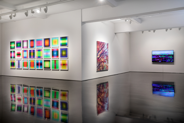 Tim Maguire, '24 Consecutive Dice Abstracts', 2019, Tolarno Galleries