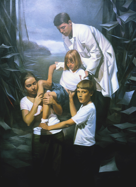Margaret Morrison, 'Descent', 2001, Painting, Oil on canvas, Woodward Gallery