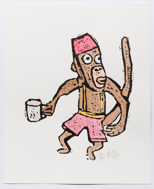 , 'Untitled (AF Print55 Monkey with Cup) ,' 2000, The Good Luck Gallery