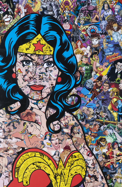 Mr Garcin, 'The Amazon', 2019, Drawing, Collage or other Work on Paper, Collage on Dibond, Galerie Christiane Vallé