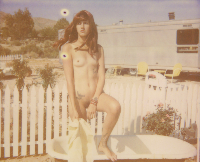 Stefanie Schneider, 'You, the desert and me II (The Girl behind the White Picket Fence)', 2013, Photography, Digital C-Print based on a Polaroid, not mounted, Instantdreams