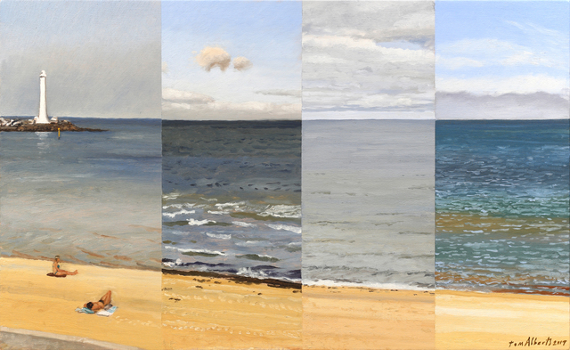 , 'Four Views of St Kilda Beach,' 2017, Charles Nodrum Gallery