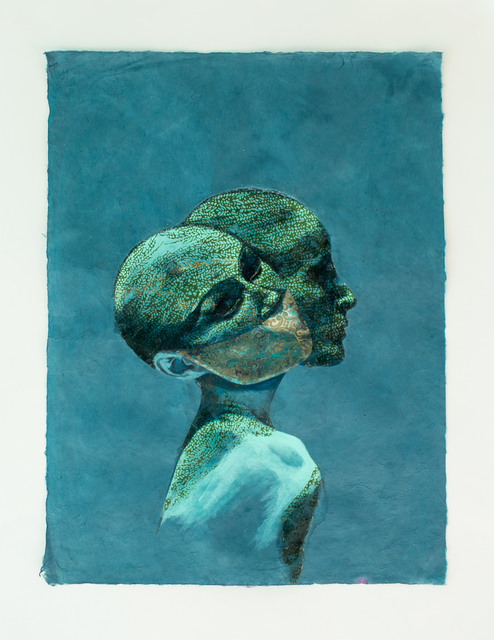 Dede Brown, 'Not Just A Visitor', 2020, Mixed Media, Mixed media on paper, Black Pony Gallery