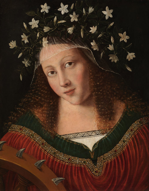 , 'St Catherine Crowned,' ca. 1520, American Federation of Arts