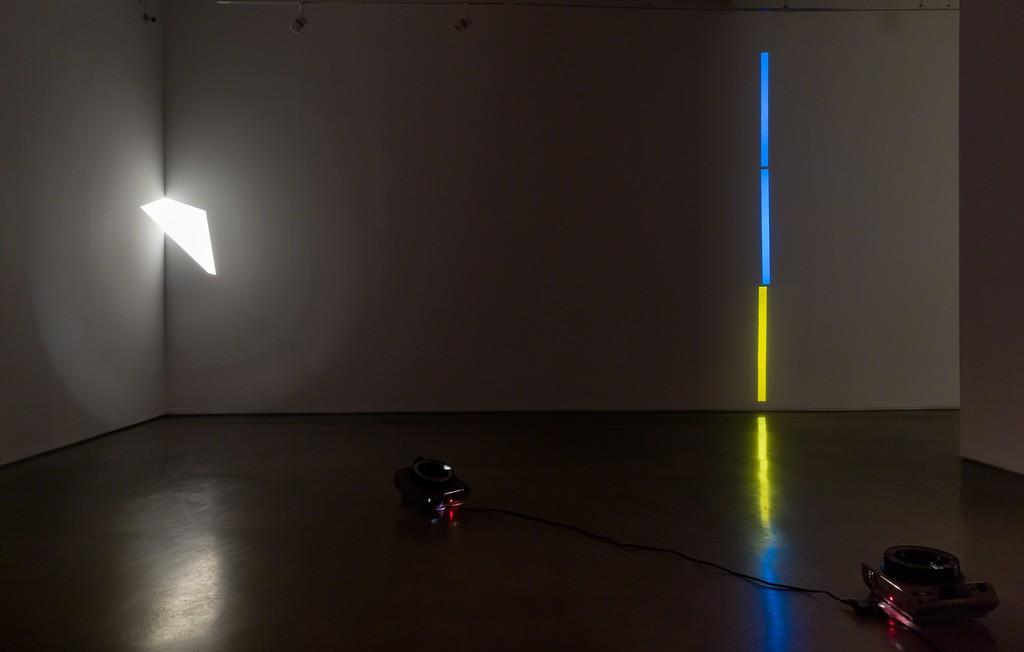 "Installation view: ""Francisco Ugarte: Slideshow,"" 2016. Cristin Tierney Gallery, New York. Photo by Etienne Frossard."