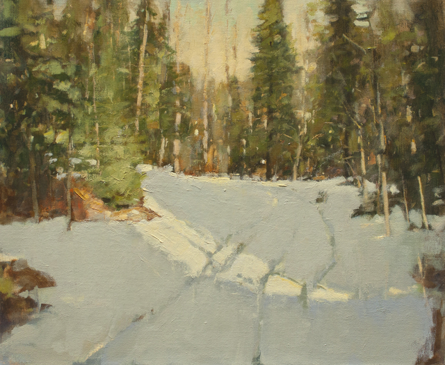 , 'Evergreens in Winter Light,' , Ventana Fine Art