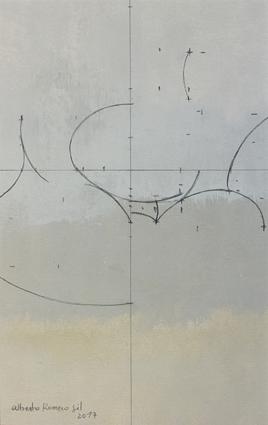 """Alberto Romero, '""""Geometría de huevos blancos""""', 2017, Sala Parés"""