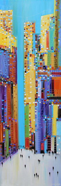, 'Colorful Cityscape,' 2017, Artspace Warehouse