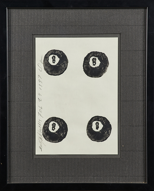 Donald Sultan, 'Eight Balls', 1997, Drawing, Collage or other Work on Paper, Ink on paper (framed), Rago/Wright